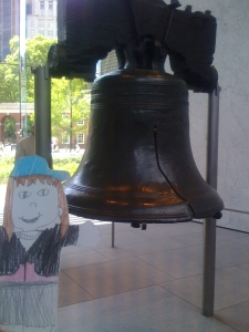 Flat Emmy at the Liberty Bell
