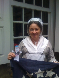 Flat Emmy with Betsy Ross at her house
