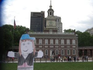 Emmy at Independence Hall