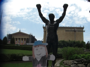 Emmy and Rocky at the Philadelphia Art Museum