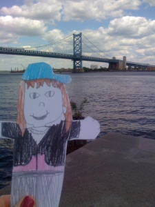 Emmy and the Ben Franklin Bridge